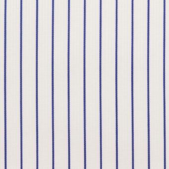 コットン×ストライプ(ブルー)×ジャガード