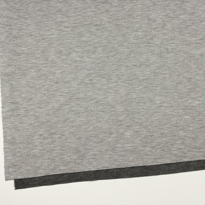 コットン&モダール×無地(シルバーグレー&チャコールグレー)×スムースニット(Wフェイス) イメージ2