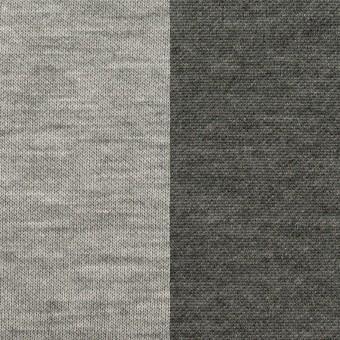 コットン&モダール×無地(シルバーグレー&チャコールグレー)×スムースニット(Wフェイス)