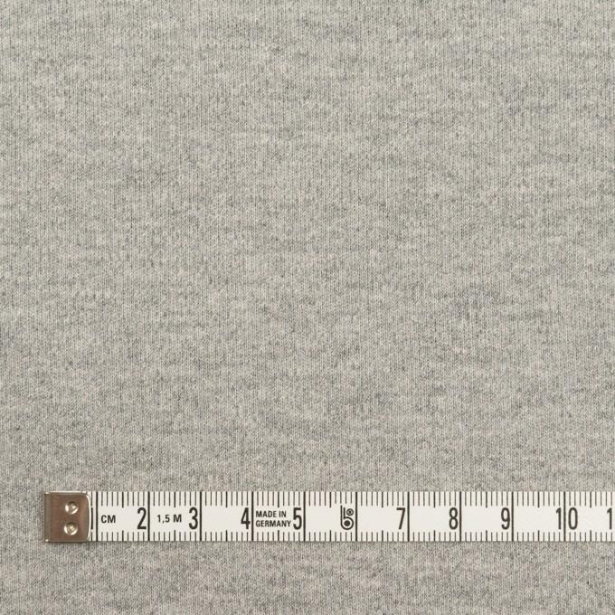 コットン×無地(ライトグレー)×スムースニット イメージ4