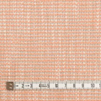 コットン&ポリウレタン×ミックス(サーモンオレンジ)×ファンシーツイード・ストレッチ サムネイル4