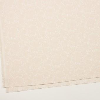 コットン&ポリウレタン×フラワー(エクリュ)×ジャガード・ストレッチ_全3色 サムネイル2