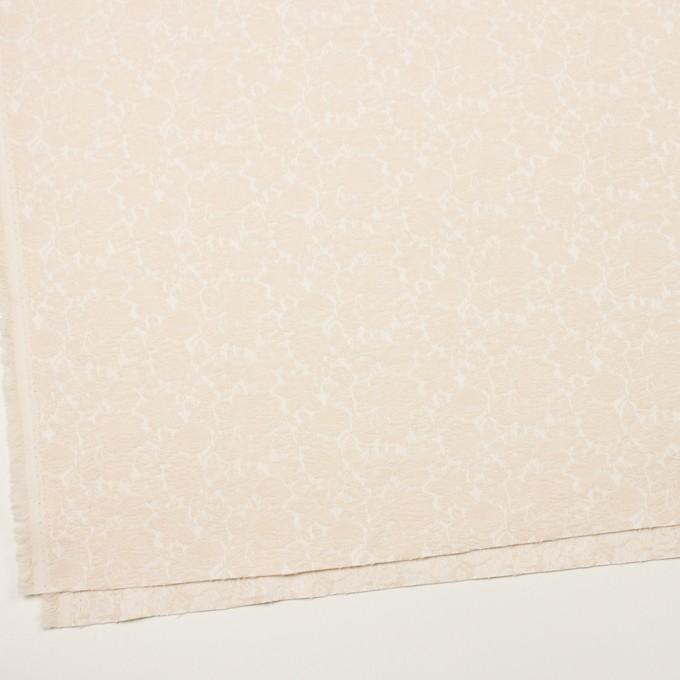 コットン&ポリウレタン×フラワー(エクリュ)×ジャガード・ストレッチ_全3色 イメージ2