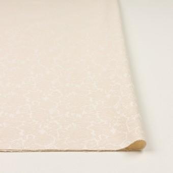 コットン&ポリウレタン×フラワー(エクリュ)×ジャガード・ストレッチ_全3色 サムネイル3