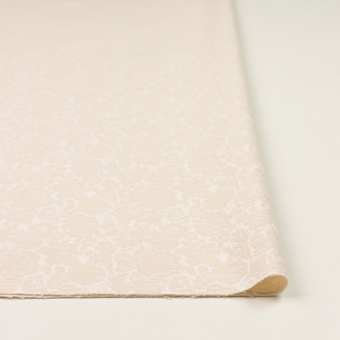 コットン&ポリウレタン×フラワー(エクリュ)×ジャガード・ストレッチ_全3色 イメージ3