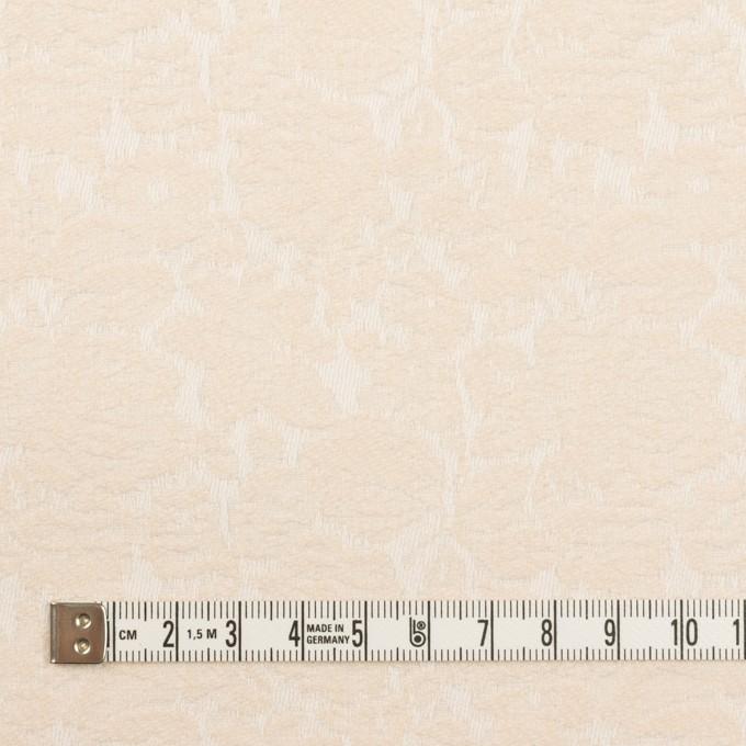 コットン&ポリウレタン×フラワー(エクリュ)×ジャガード・ストレッチ_全3色 イメージ4