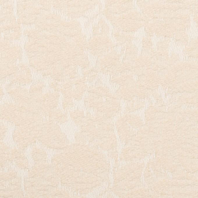 コットン&ポリウレタン×フラワー(エクリュ)×ジャガード・ストレッチ_全3色 イメージ1
