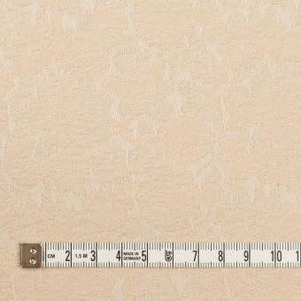 コットン&ポリウレタン×フラワー(ライトベージュ)×ジャガード・ストレッチ_全3色 サムネイル4