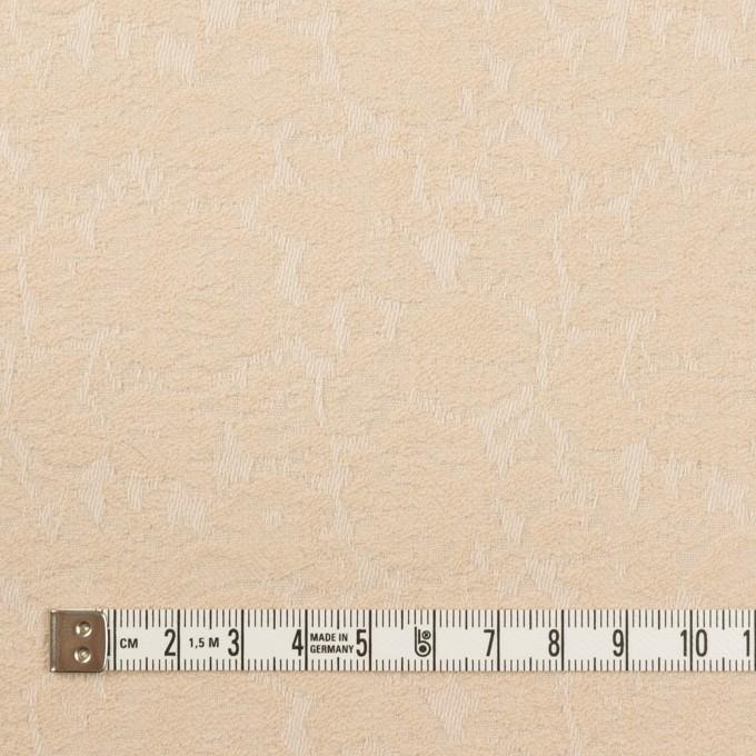 コットン&ポリウレタン×フラワー(ライトベージュ)×ジャガード・ストレッチ_全3色 イメージ4