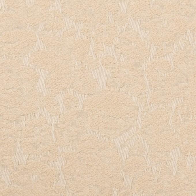コットン&ポリウレタン×フラワー(ライトベージュ)×ジャガード・ストレッチ_全3色 イメージ1