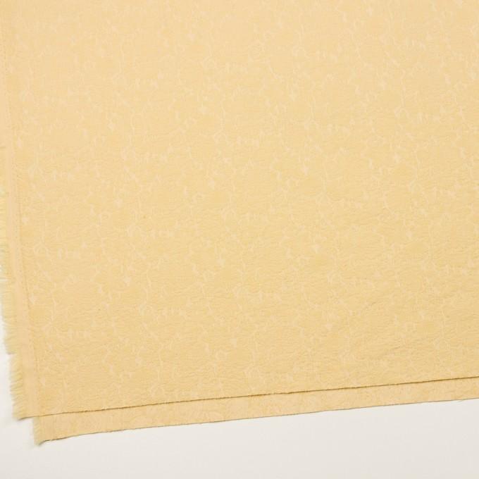 コットン&ポリウレタン×フラワー(カスタード)×ジャガード・ストレッチ_全3色 イメージ2