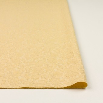 コットン&ポリウレタン×フラワー(カスタード)×ジャガード・ストレッチ_全3色 サムネイル3