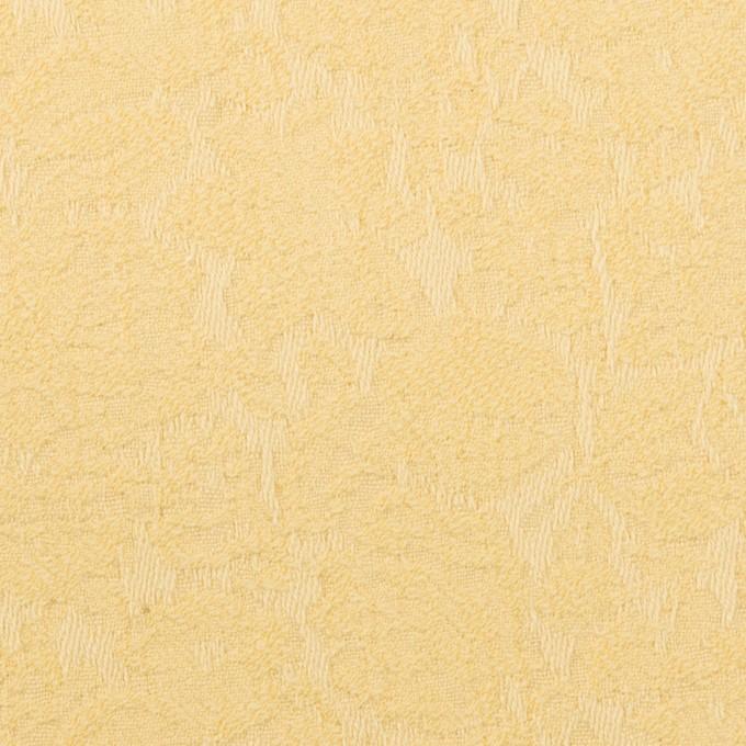 コットン&ポリウレタン×フラワー(カスタード)×ジャガード・ストレッチ_全3色 イメージ1