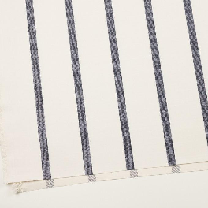 シルク&リネン×ストライプ(ミルク&ネイビー)×厚サージ イメージ2