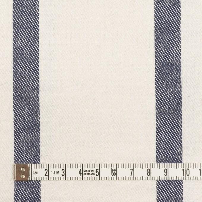 シルク&リネン×ストライプ(ミルク&ネイビー)×厚サージ イメージ4