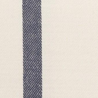 シルク&リネン×ストライプ(ミルク&ネイビー)×厚サージ
