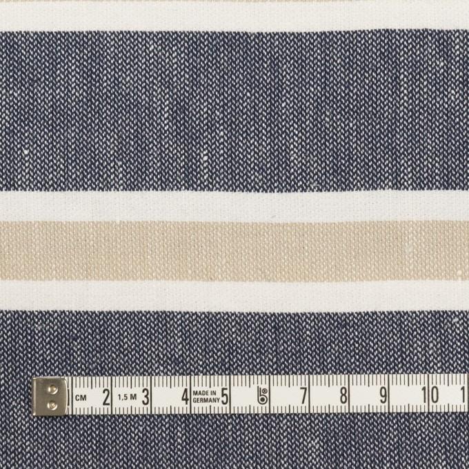 コットン×ボーダー(ネイビー、ベージュ&ホワイト)×ヘリンボーン イメージ4