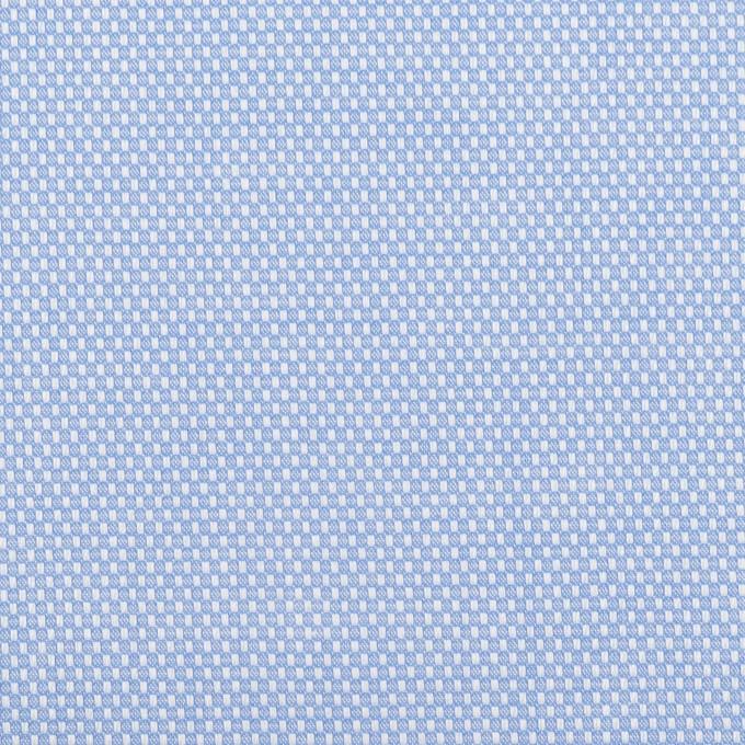 コットン×無地(ブルー)×斜子織 イメージ1
