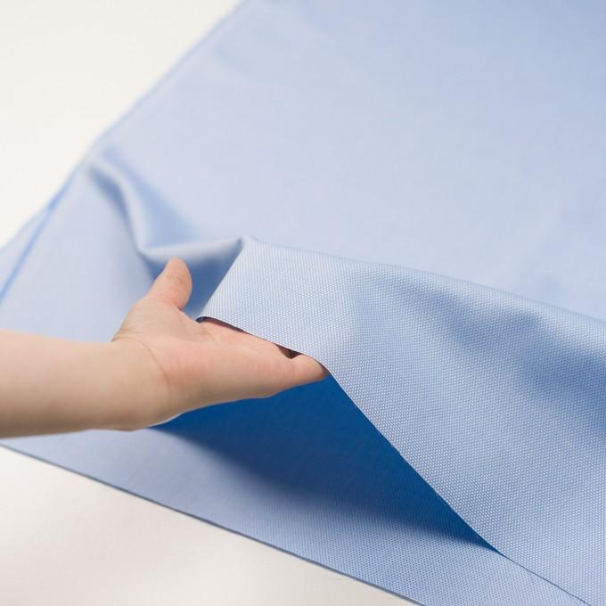 コットン×無地(ブルー)×斜子織 イメージ5