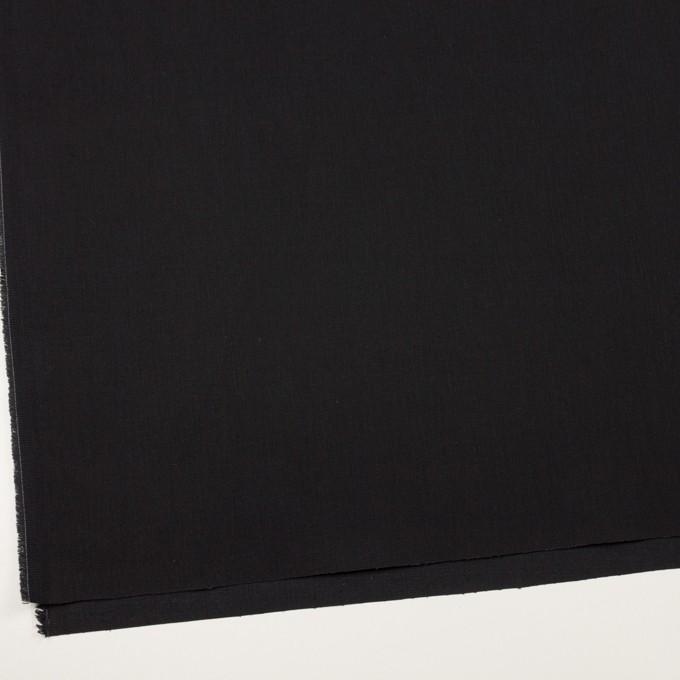 コットン&ポリウレタン×無地(ブラック)×カツラギ・ストレッチ イメージ2
