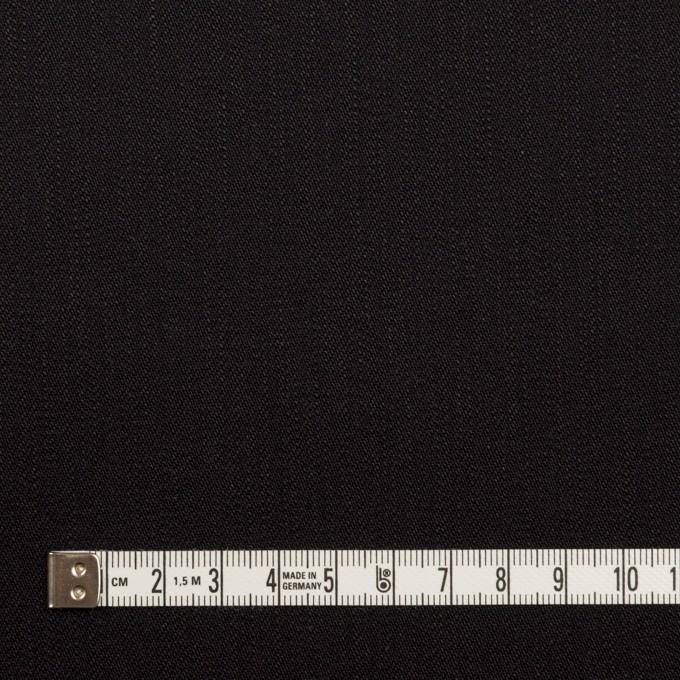 コットン&ポリウレタン×無地(ブラック)×カツラギ・ストレッチ イメージ4