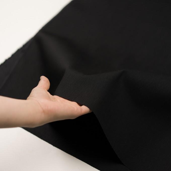 コットン&ポリウレタン×無地(ブラック)×カツラギ・ストレッチ イメージ5