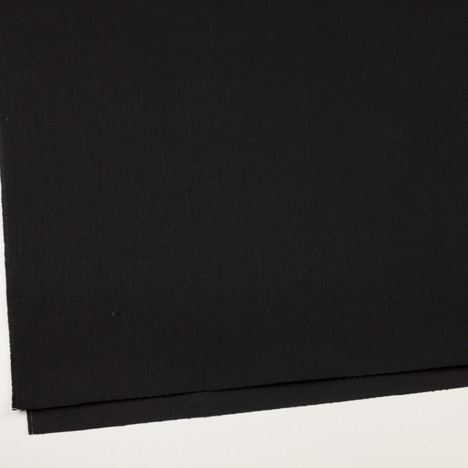 コットン×無地(ブラック)×カツラギ イメージ2