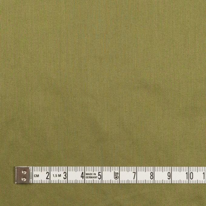 コットン×無地(カーキグリーン)×サテンワッシャー_全14色 イメージ4