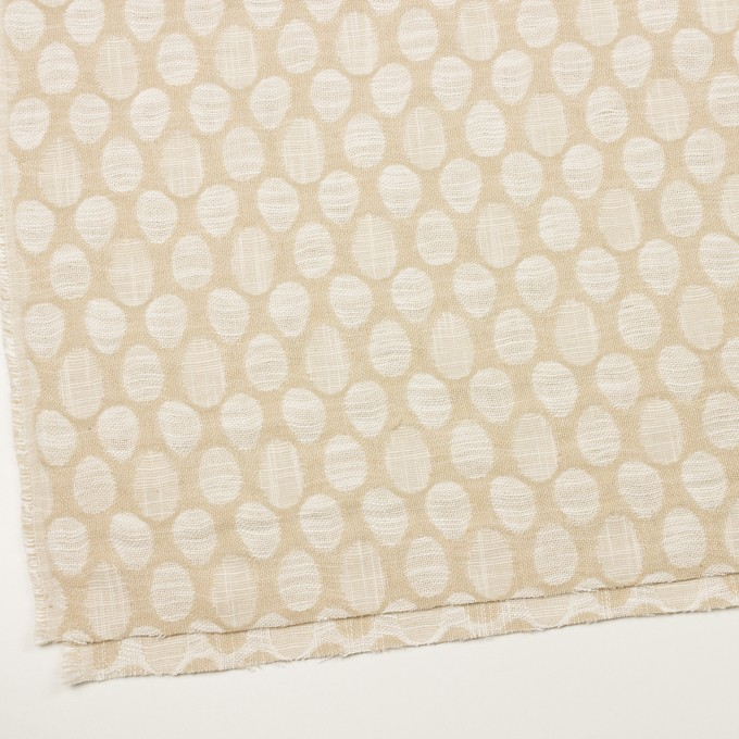 コットン&ビスコース混×オーバル(ライトベージュ)×二重ジャガード_全2色_イタリア製 イメージ2