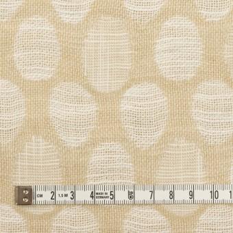 コットン&ビスコース混×オーバル(ライトベージュ)×二重ジャガード_全2色_イタリア製 サムネイル4