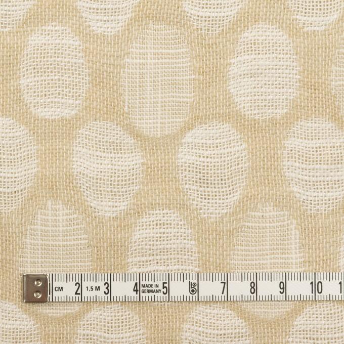 コットン&ビスコース混×オーバル(ライトベージュ)×二重ジャガード_全2色_イタリア製 イメージ4