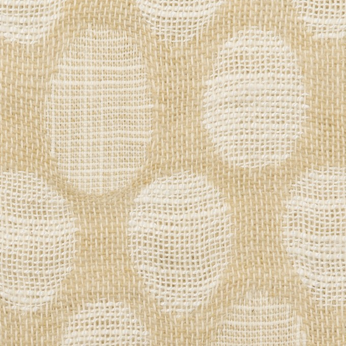 コットン&ビスコース混×オーバル(ライトベージュ)×二重ジャガード_全2色_イタリア製 イメージ1