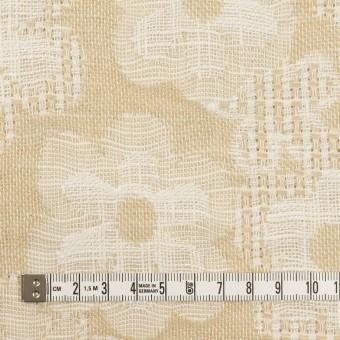 コットン&ビスコース混×フラワー(ライトベージュ)×二重ジャガード_全2色_イタリア製 サムネイル4