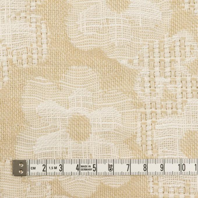 コットン&ビスコース混×フラワー(ライトベージュ)×二重ジャガード_全2色_イタリア製 イメージ4