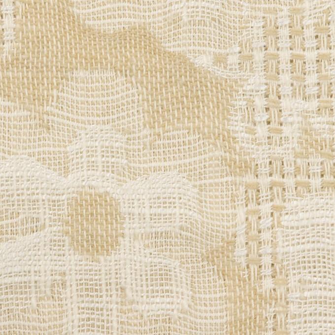 コットン&ビスコース混×フラワー(ライトベージュ)×二重ジャガード_全2色_イタリア製 イメージ1