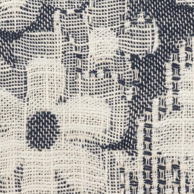 コットン&ビスコース混×フラワー(ネイビー)×二重ジャガード_全2色_イタリア製 イメージ1
