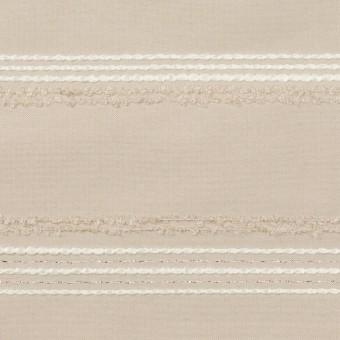 ポリエステル&レーヨン混×ボーダー(シルバーピンク)×形状記憶タフタジャガード