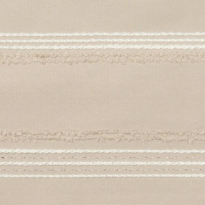 ポリエステル&レーヨン混×ボーダー(シルバーピンク)×形状記憶タフタジャガード イメージ1