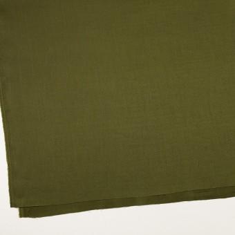リネン&レーヨン混×無地(カーキグリーン)×サージストレッチ_全4色 サムネイル2