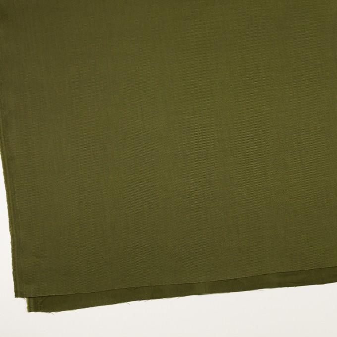 リネン&レーヨン混×無地(カーキグリーン)×サージストレッチ_全4色 イメージ2