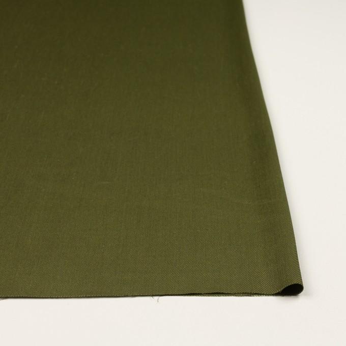 リネン&レーヨン混×無地(カーキグリーン)×サージストレッチ_全4色 イメージ3