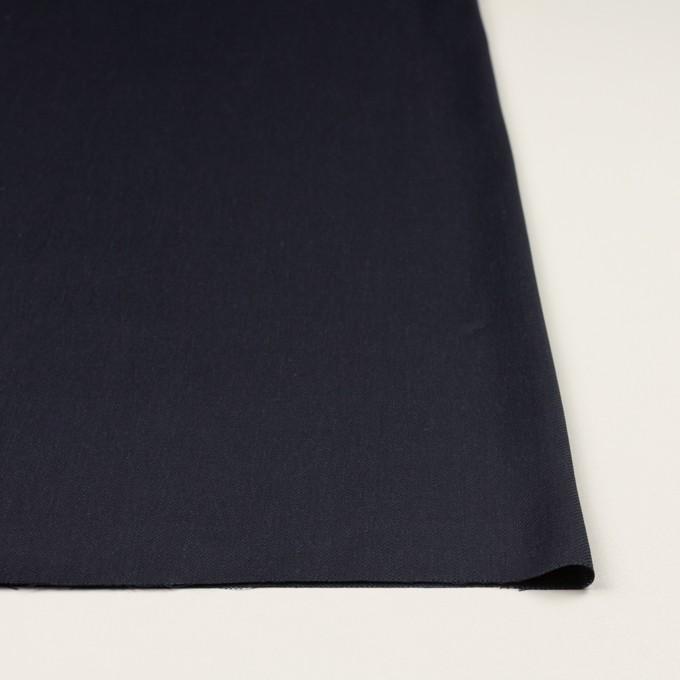 リネン&レーヨン混×無地(ネイビー)×サージストレッチ_全4色 イメージ3