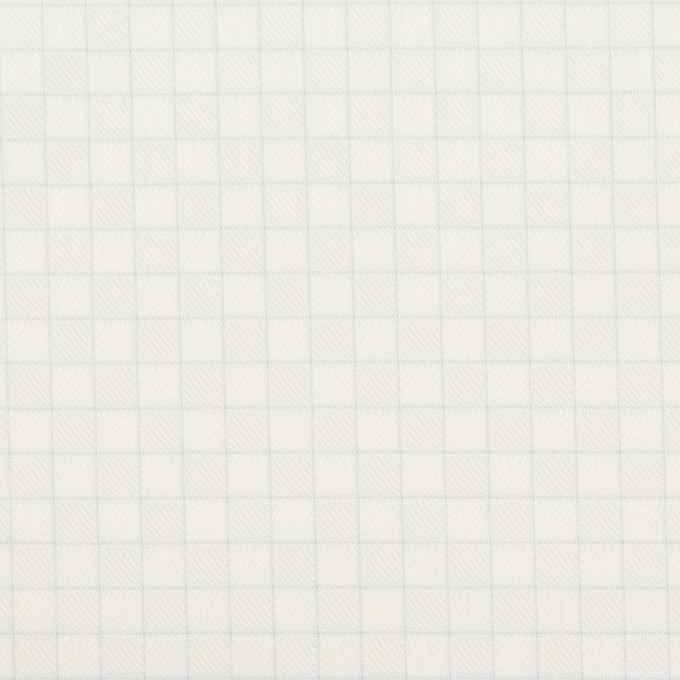 コットン&ポリエステル×チェック(サックス)×ジャガード_全2色 イメージ1
