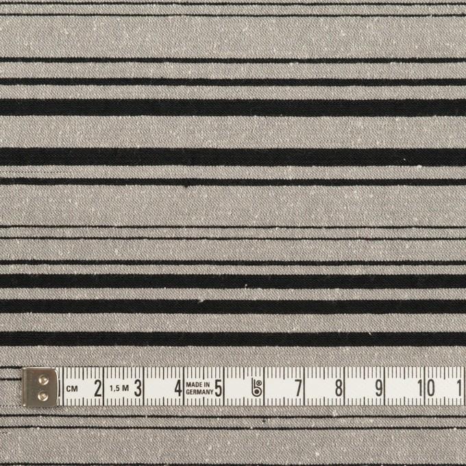 シルク&ポリエステル混×ボーダー(シルバー&ブラック)×シャンタン イメージ4