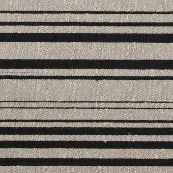 シルク&ポリエステル混×ボーダー(シルバー&ブラック)×シャンタン サムネイル1