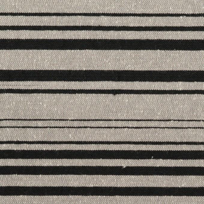 シルク&ポリエステル混×ボーダー(シルバー&ブラック)×シャンタン イメージ1