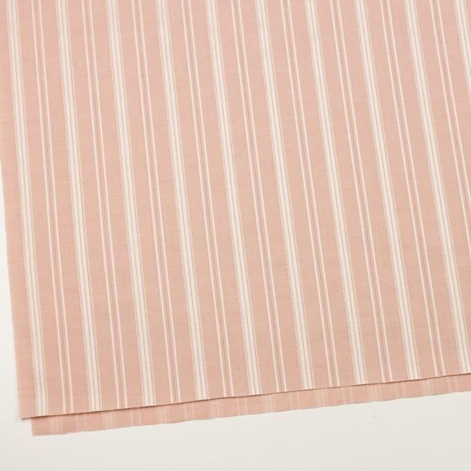 コットン×ストライプ(サーモンピンク)×シャンブレー・ジャガード_全2色 イメージ2