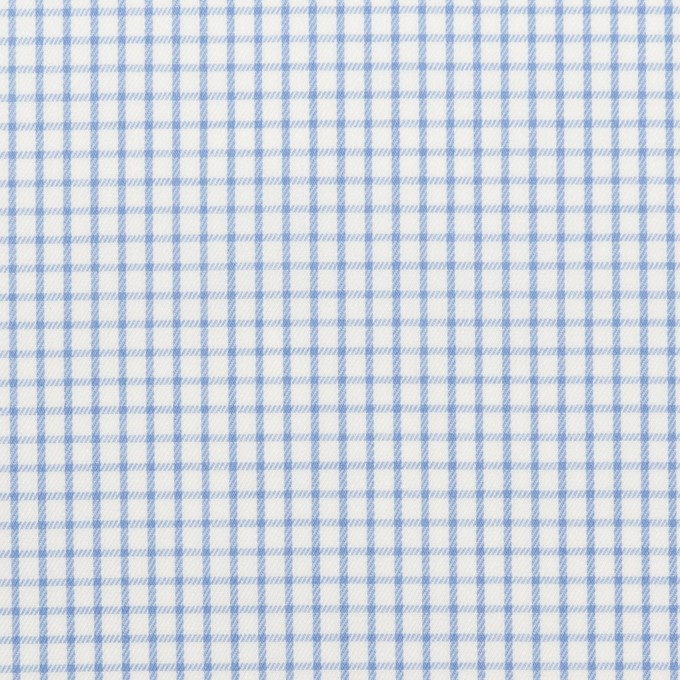 コットン×チェック(サックス)×サージ_全2色 イメージ1
