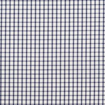 コットン×チェック(ネイビー)×サージ_全2色