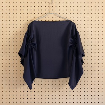 ポリエステル×無地(ブラック)×サテンワッシャー_全3色 サムネイル6